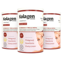 3x Kollagen in Pulverform + Vitamin C
