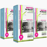 3x Biotina per i capelli + silicio