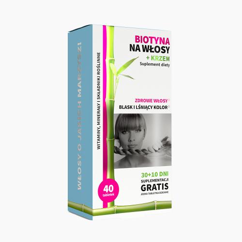 Biotyna na włosy + krzem 40 tabletek