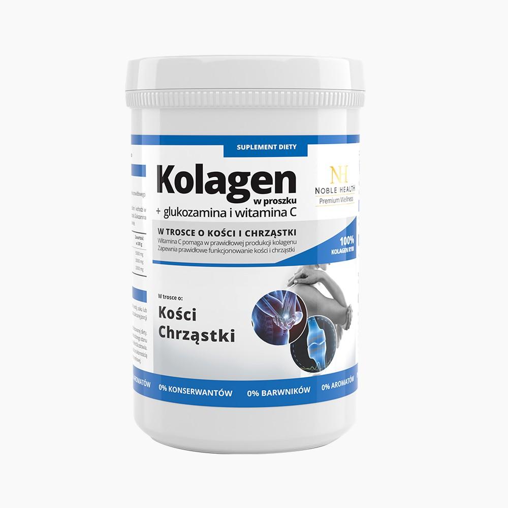 Kolagen w proszku + glukozamina i witamina C