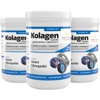 3x Collagene idrolizzato + glucosamina con l'aggiunta di Vitamina C