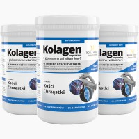 3x Kolagen w proszku + glukozamina i witamina C