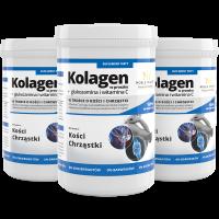 3x Pulverkollagen + Glucosamin und Vitamin C