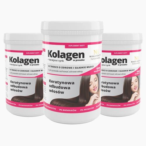 3x Kollagen + Keratin und Zinkpulver
