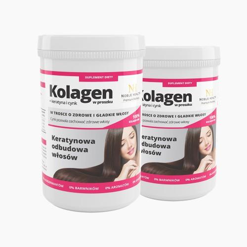 2x Collagene +  cheratina e zinco in polvere