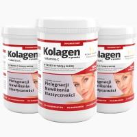 3x Kollagen in Pulverform + Vitamin C