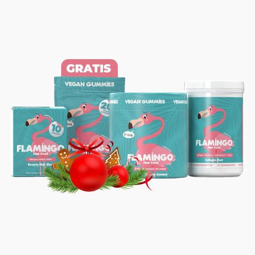 Flamingo Hair Food Christmas Joy
