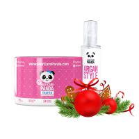 Hair Care Panda Christmas Mama