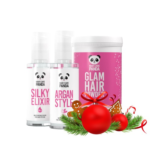 Hair Care Panda Christmas Glow