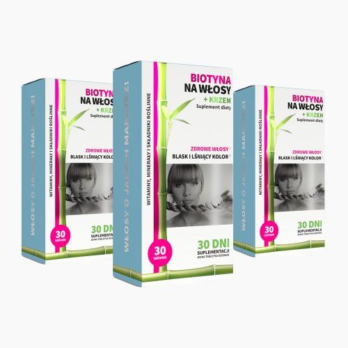 3x Biotin for hair + silicon