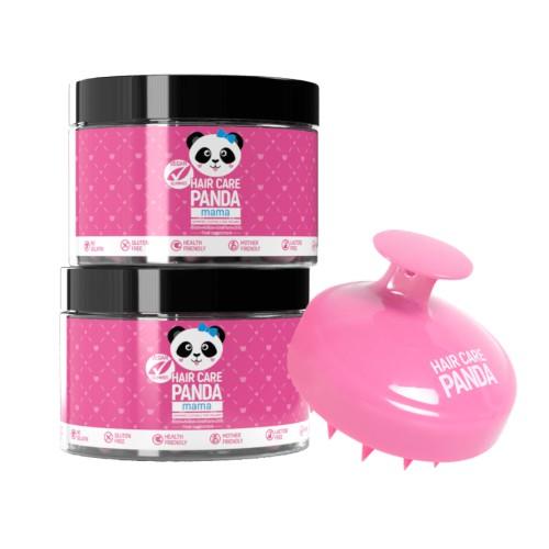 2x Hair Care Panda Vegan Gummies MAMA + Scalp Massager