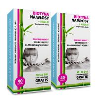 2x Biotina per i capelli + silicio