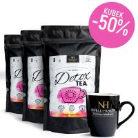 3x Detox Tea Herbata na dzień + kubek za 50% ceny