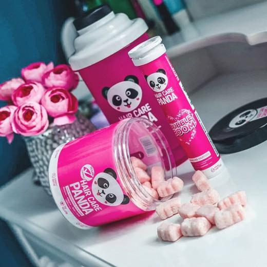 Hair Care Panda Travel Pack Hair Vitamins In Form Of Gummies Hair Care Panda Vegan Gummies From Noble Health
